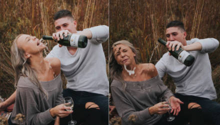 Пара устроила фотосессию в честь помолвки, но результат превзошёл все ожидания