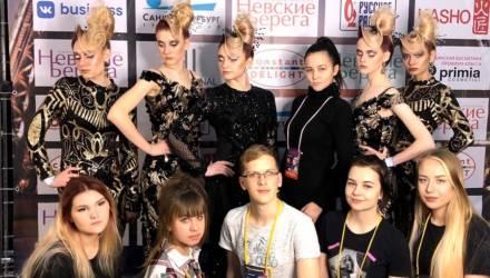 Причесали «Невские берега»: команда из Гомеля поднялась на второе место фестиваля парикмахерского искусства