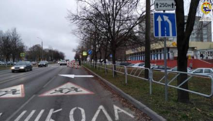 Новый светофор и сужение дороги. В Гомеле произошли изменения в организации дорожного движения.