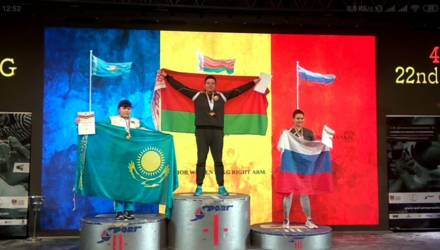 Гомельчанка завоевала золотую и серебряную медали на чемпионате мира по армрестлингу в Румынии