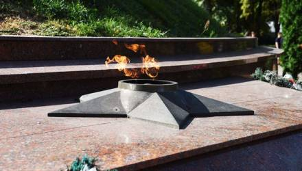 Вечный огонь на Кургане Славы в Гомеле временно отключён
