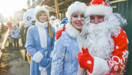 Праздник «Однажды под Новый год» собрал на площади Победы жителей Железнодорожного района Гомеля