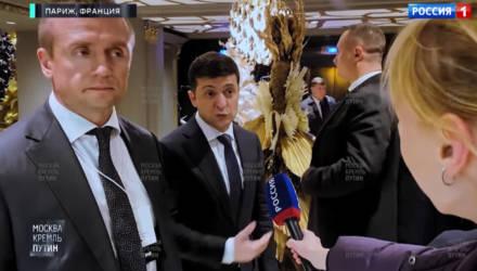 Опубликовано видео первого интервью Зеленского российским журналистам
