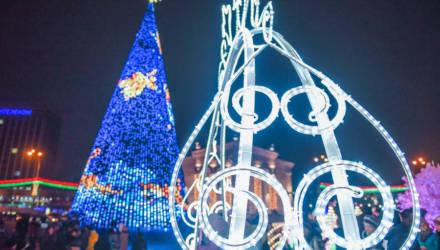 В Гомеле торжественно зажгли главную новогоднюю ель-красавицу