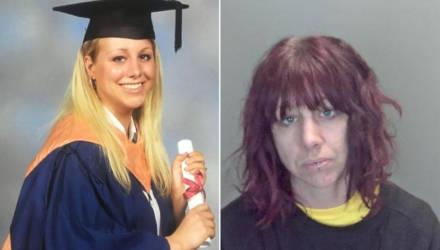 Учительницу, которая была примером для всех, теперь не узнать из-за наркотиков