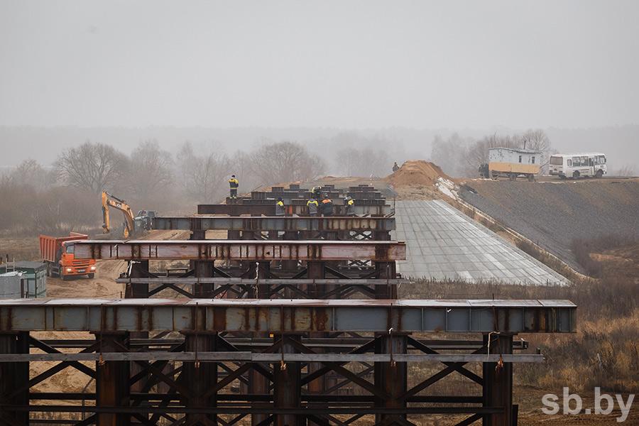 Временный объездной мост через Днепр появится в Рогачёве в начале 2020 года