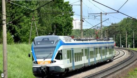 Снова что-то со «Штадлером». Поезд Минск — Гомель час простоял посреди поля в Бобруйском районе