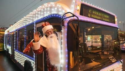 Как будет работать транспорт в Гомеле в новогоднюю ночь