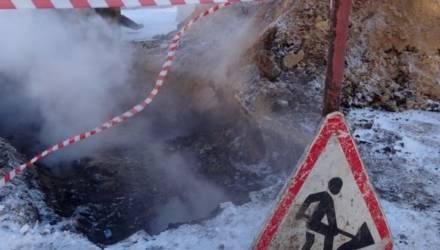 Порыв трубопровода горячего водоснабжения произошёл в Гомеле по проспекту Речицкому