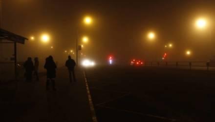 На Гомель и область опустился невероятно плотный туман