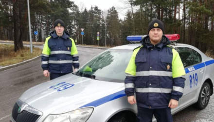 Россиянка выразила благодарность белорусскому экипажу ДПС за эффективную и своевременную помощь