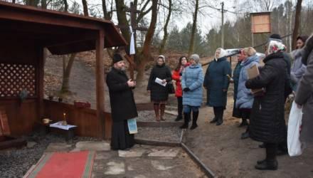 В канун Крещения в Гомельском районе освятили уникальный родник Явицкий