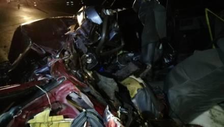 В Буда-Кошелевском районе из искорёженного после аварии ВАЗа достали водителя. Позже он умер