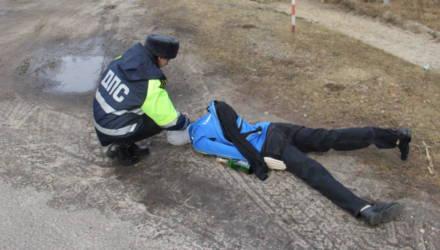 Гомельская ГАИ проверила, как отреагируют водители на «тело» на обочине