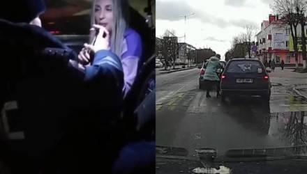 """В Приморье блондинка пыталась соблазнить инспектора, предлагая """"подуть в другую трубку"""" вместо алкотестера — видео"""