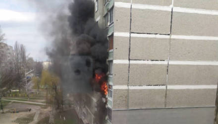 На Речицком проспекте в Гомеле горела квартира (фото, видео)