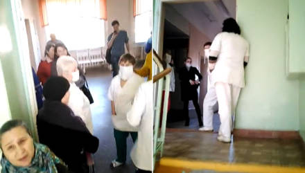 В Речицкую поликлинику пришёл мужчина с насморком – перекрыли все входы