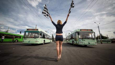 Горэлектротранспорт в Гомеле закупает новый троллейбус с кондиционером