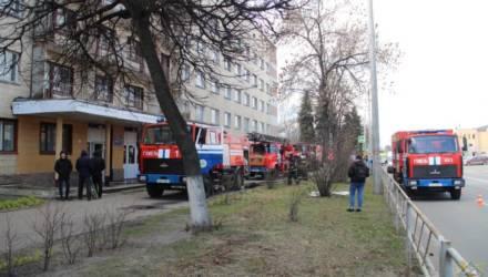 В общежитии ГГУ произошёл пожар: спасатели эвакуировали 260 человек