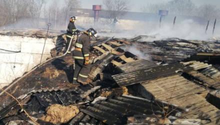 В Буда-Кошелевском районе горел склад