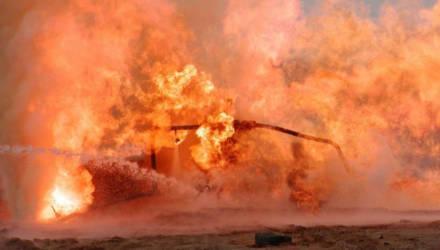 На Мозырском НПЗ горела отбензиненная нефть