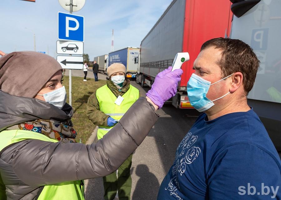 Санитарные посты выставлены у границ Беларуси