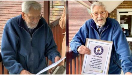 Житель Великобритании признан старейшим мужчиной на Земле