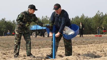 Лукашенко на субботнике в Гомельской области занимался саженцами. Но всё внимание — его помощнику