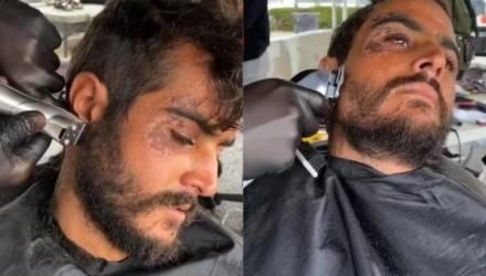 Стилист подстриг бездомного парня, и оказалось, что под грязными волосами и бородой прятался красавец