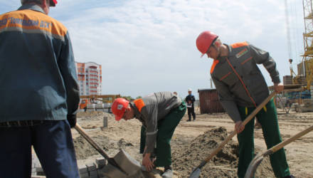 В Гомеле строится новая школа с бассейном для 765 учеников