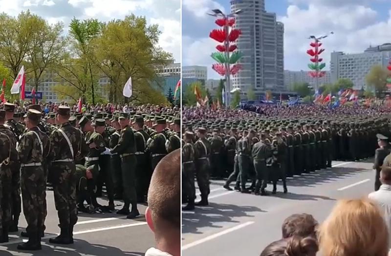 Солдату стало плохо во время парада в Минске – видео