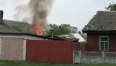 В Гомеле утром произошёл пожар