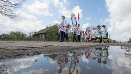 В деревне Погост Житковичского района провели обряд «Юрьевский хоровод»