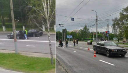 """""""Все машины стояли, а BMW летело"""". В Гомеле на Речицком проспекте девушка-водитель сбила парня на пешеходном переходе"""