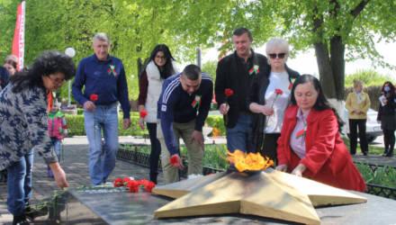 Память рабочих «Гомсельмаша», погибших в войне, почтили в Гомеле