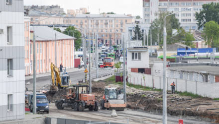 В Гомеле реконструируют улицу Шевченко