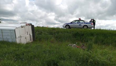 В Рогачёвском районе микроавтобус сбил велосипедиста. Он умер