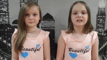 «Лишь люди с добрыми сердцами!»: в сети любуются трогательным видео, которое девочки-близняшки из Гомеля записали медикам