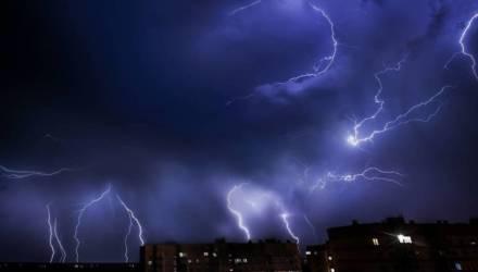 Оранжевый уровень опасности объявлен в Беларуси 30 июня из-за гроз