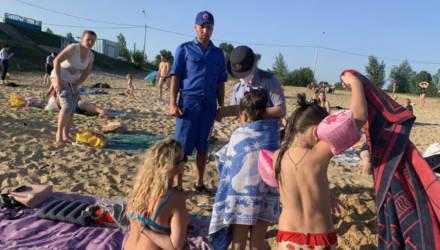 Сотрудники ИДН Советского РОВД Гомеля посетили пляжи района