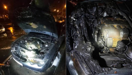 """В Гомеле """"доброжелатели"""" сожгли BMW 7-series безработного"""