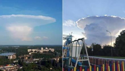 Таинственный «гриб-НЛО» в небе перепугал киевлян
