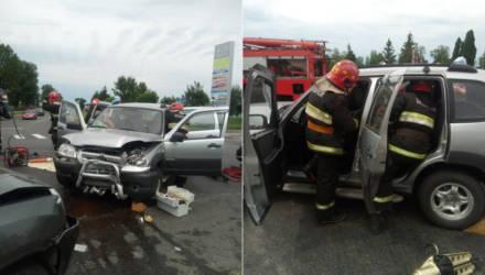 В Речице пострадавшую в ДТП пассажирку из легковушки доставали спасатели (фото, видео)