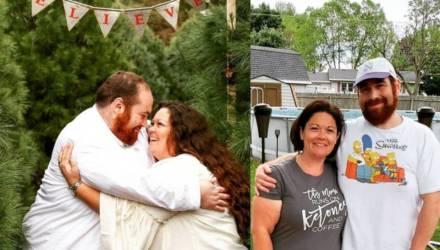 Муж начал худеть, вдохновив жену своим примером, и за три года они сбросили 135 кг на двоих