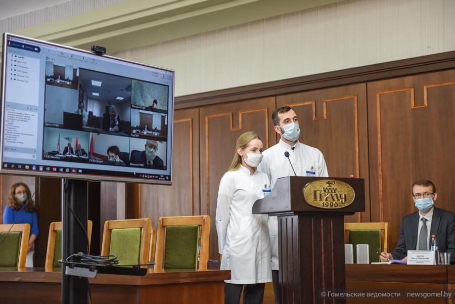 Глава Минздрава Караник поучаствовал в распределении выпускников-медиков в Гомеле