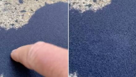Женщина нашла во дворе синий песок, двигающийся при касании. И правда о нём пугает больше, чем его вид