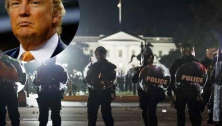 Трамп спрятался в бункере из-за протестов у Белого дома