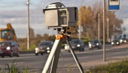 ГАИ: на трассе М5 под Гомелем работает мобильный датчик контроля скорости