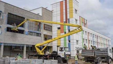 Работа кипит. Продолжается строительство школы в 21-м микрорайоне Гомеля