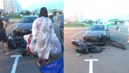 Гомельчанин взял напрокат авто и сбил мотоциклиста в неожиданном месте
